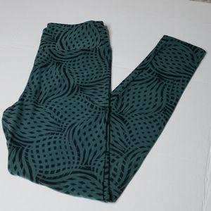 OS Green Geometric LuLaRoe Legging